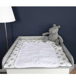 """Wickelaufsatz """"Rund"""" in grau für IKEA Malm Kommode"""