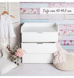"""Wickelaufsatz """"Rund"""" in weiß auch für IKEA Nordli"""