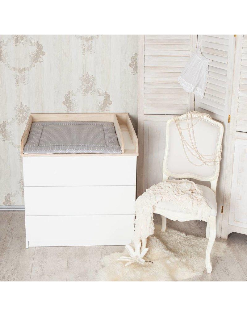 """Ausstellungsstück Wickelaufsatz """"Holz + Trennfach"""" für IKEA Malm Kommode"""