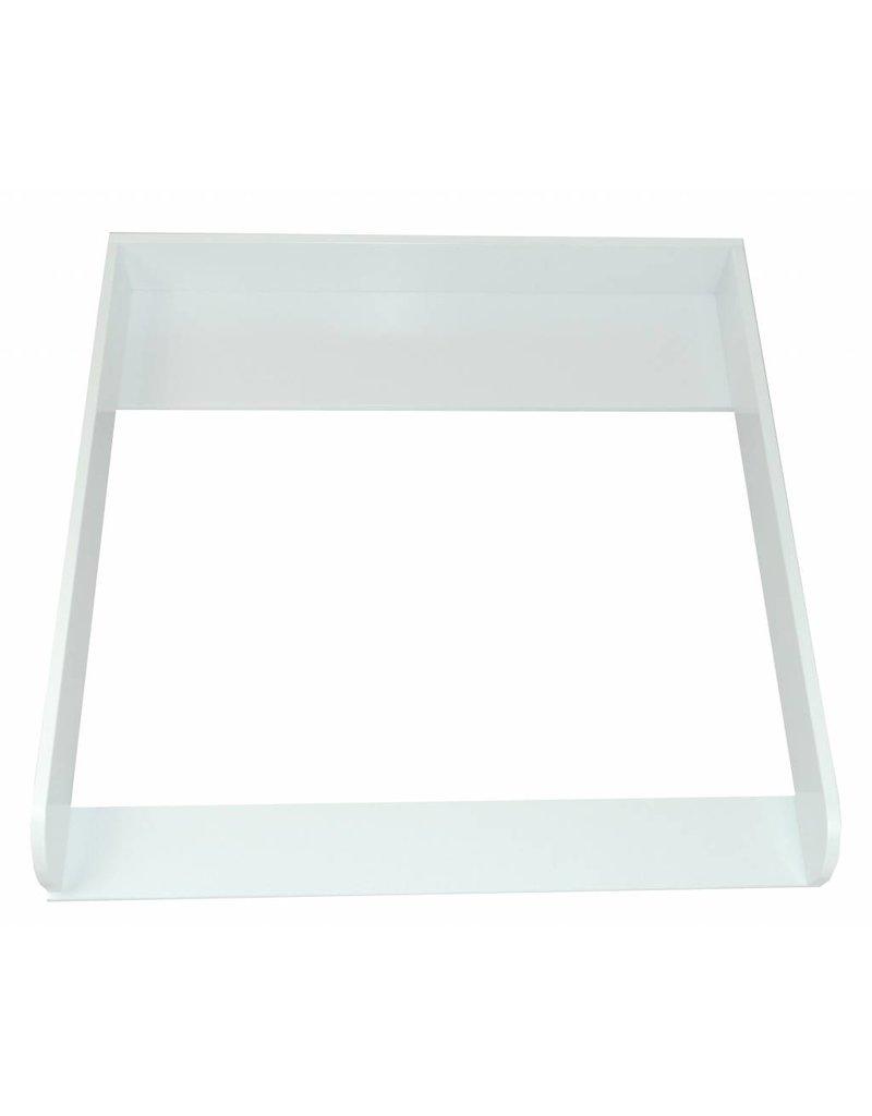 """Wickelaufsatz """"Rund"""" in weiß für IKEA Malm Kommode + Geschenkbox Hellblau"""