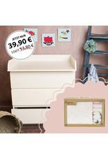 """Standard Extraround"" - for IKEA Malm + Organic cotton gift set ""Stars rose"""