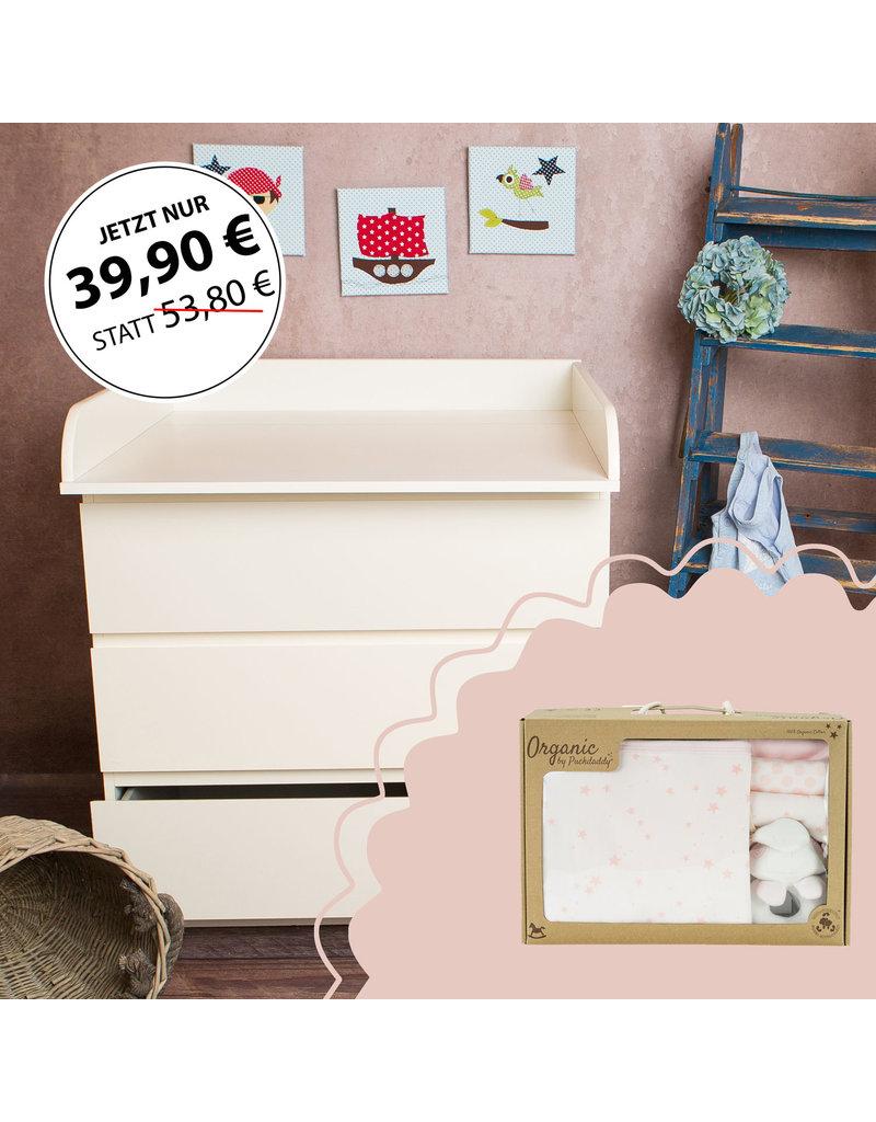 SANS COMMODE Plan /à langer pour tous les commodes IKEA Hemnes XXL extra bords arrondis