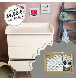 """Standard Extraround"" - for IKEA Malm + Organic cotton gift set ""Panda"""