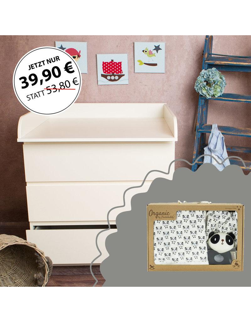 """Standard Extraround"" - for IKEA Malm + Organic Cotton Gift set ""Panda"""