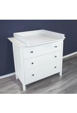 """Wickelaufsatz """"Basic"""" in Weiß mit Blende für IKEA Hemnes Kommode"""