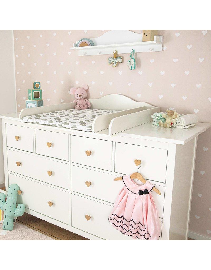 """Puckdaddy Wickelaufsatz """"Wolke"""" mit Trennfach und extrabreiter Blende  für IKEA Hemnes 160 cm"""