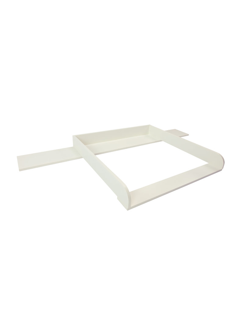 """Changing Top """"Round"""" with extra wide cover for IKEA Hemnes dresser 160 cm in white"""