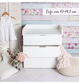 """Sample """"XS-1"""" Bords arrondis! Plan à langer aussi pour IKEA Nordli"""
