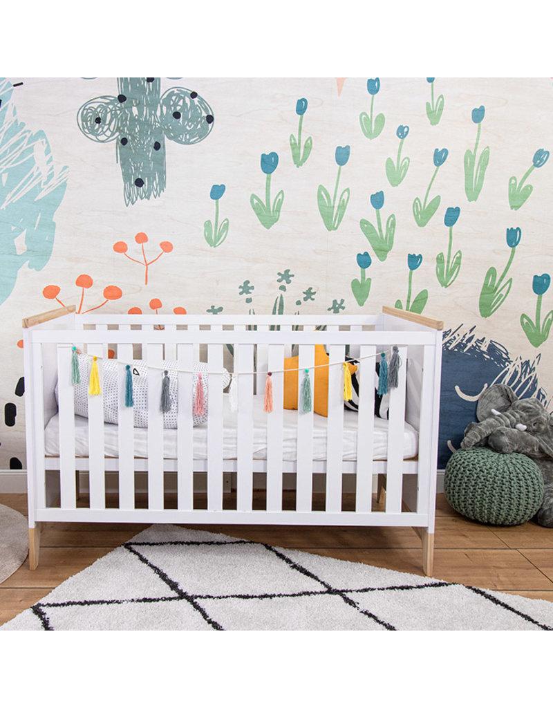Puckdaddy Baby bed Ida, white, 140x70 cm
