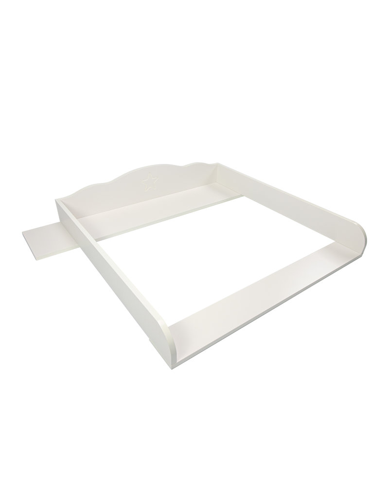 Puckdaddy Changing topper Cloud 7 with wide cover, white, for IKEA Hemnes