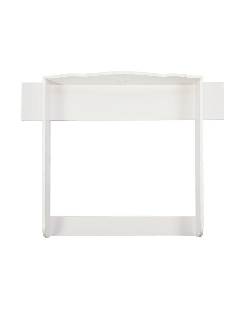 Puckdaddy Wickelaufsatz Wolke 7 mit Sterngravur und Blende, weiß, für IKEA Hemnes