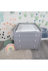 """Wickelaufsatz """"Rund"""" mit Blende in grau für IKEA Hemnes"""