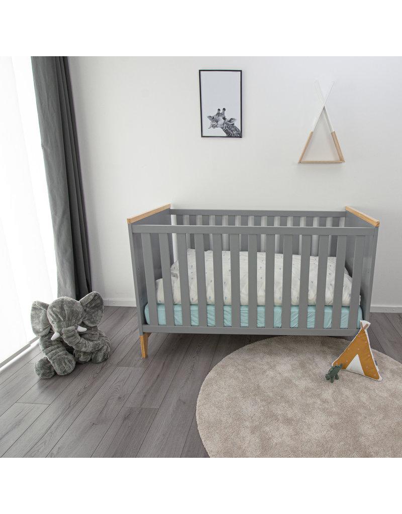 Puckdaddy Baby bed Ida, grey, 140x70 cm
