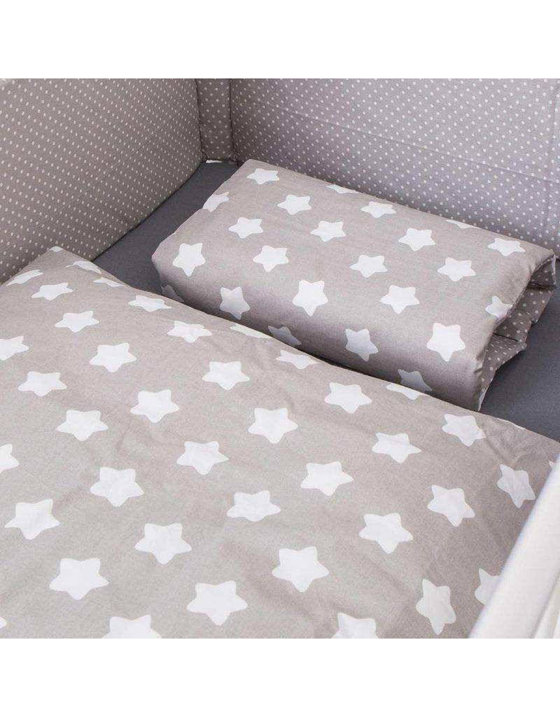 Puckdaddy Kinderbettwäsche Mit Sterne Und Punkten Puckdaddy