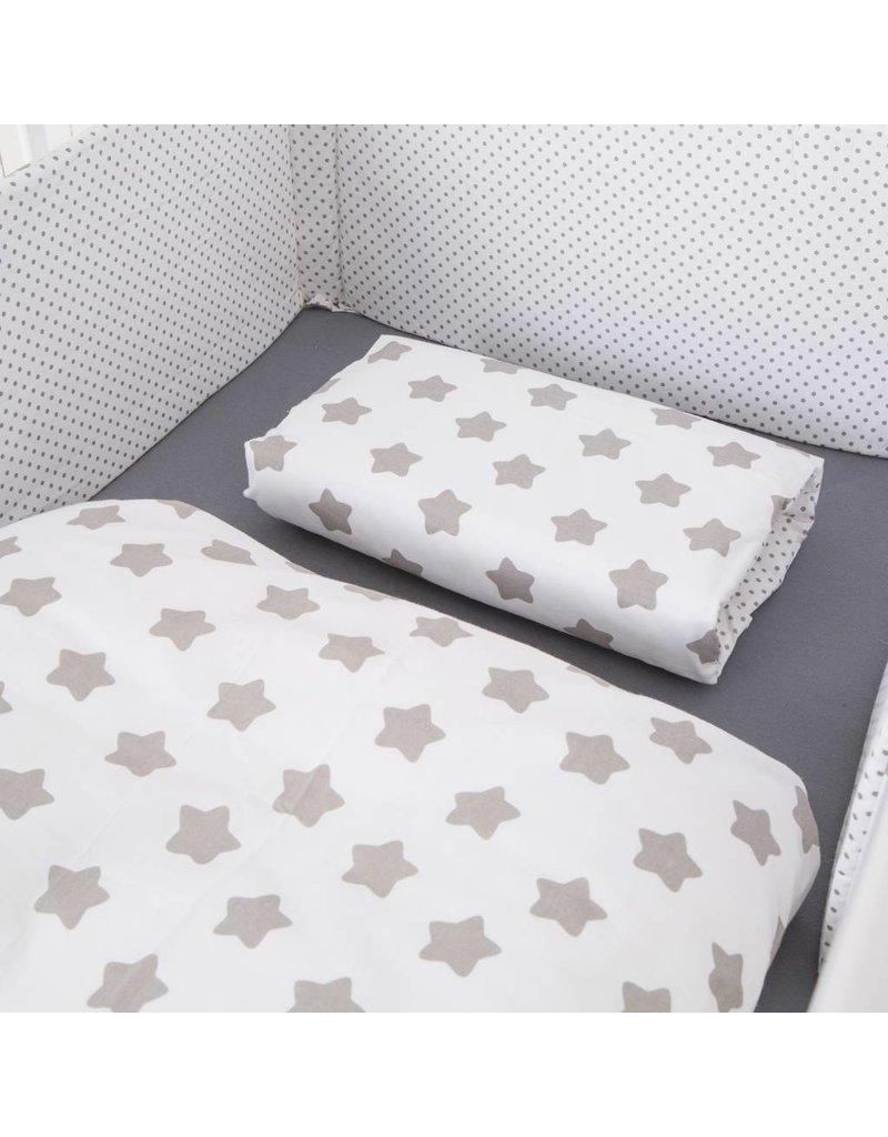 """Bett-Set """"Punkte/ Sterne weiß"""""""