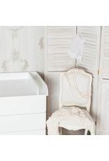 """Wickelaufsatz """"Rund + Trennfach"""" in weiß für IKEA Malm Kommode"""