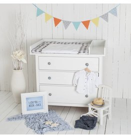 """Wickelaufsatz """"XXL Basic + Trennfach"""" für IKEA Hemnes in weiß"""