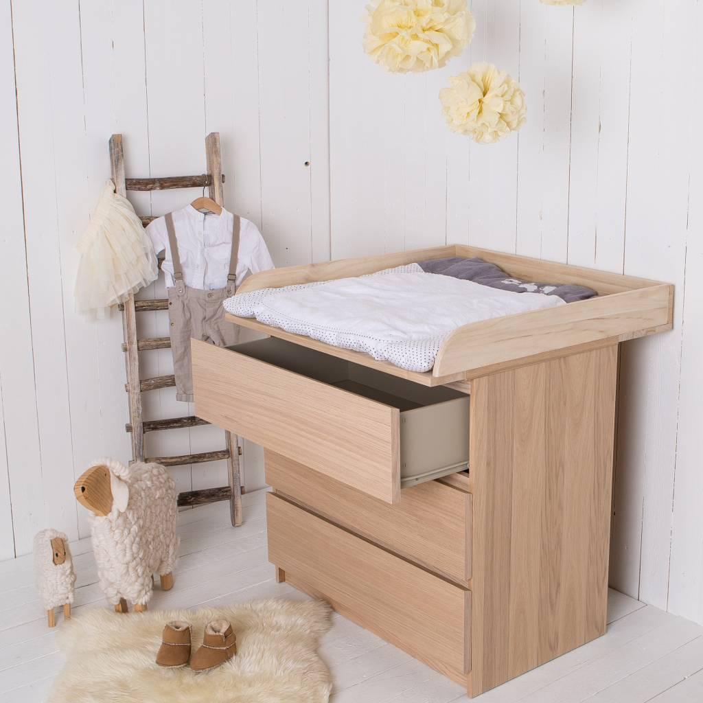 Naturholz! Wickelaufsatz für alle IKEA Malm, Brusali Kommoden