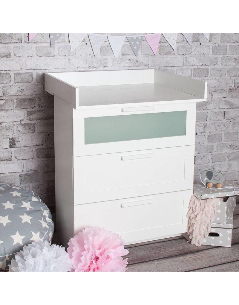 XS plan à langer pour tous les commodes IKEA Brimnes (blanc)
