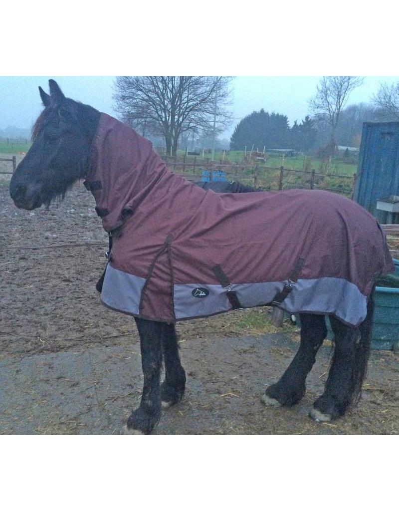 LuBa Pferdedecken®  Regendecke 1200D Braun mit Halsteil