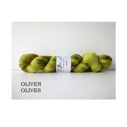 Fine Merino Socks col. Oliven