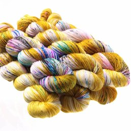 Hedgehog Fibres Sock Yarn col. Fools Gold