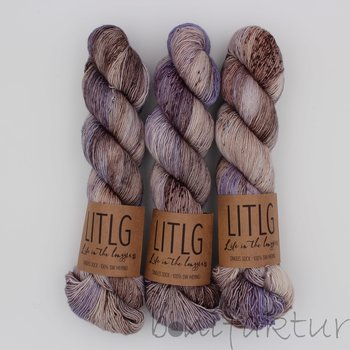 Life in the Long Grass LITLG Singles Sock col. Treebark