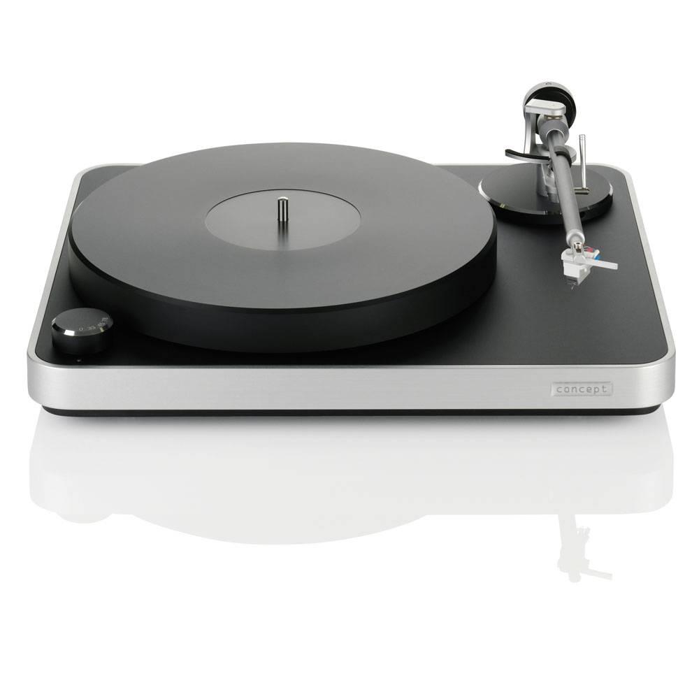 Clearaudio Concept MM Black/Silver inklusive Satisfy Kardan Black-Aluminum Tonarm
