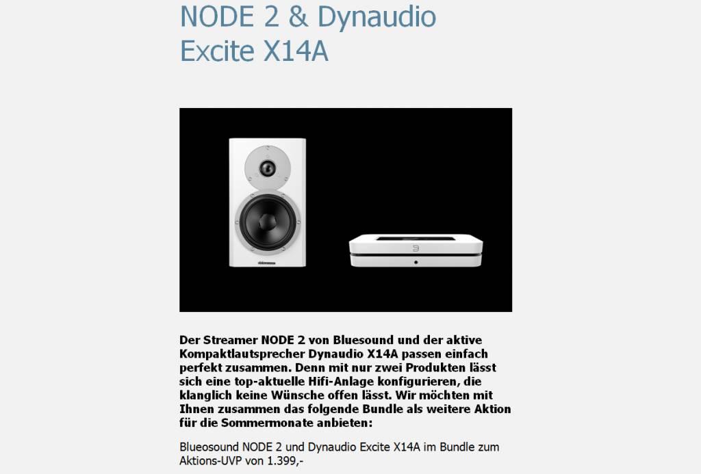Dynaudio Excite X14A + Bluesound Node 2