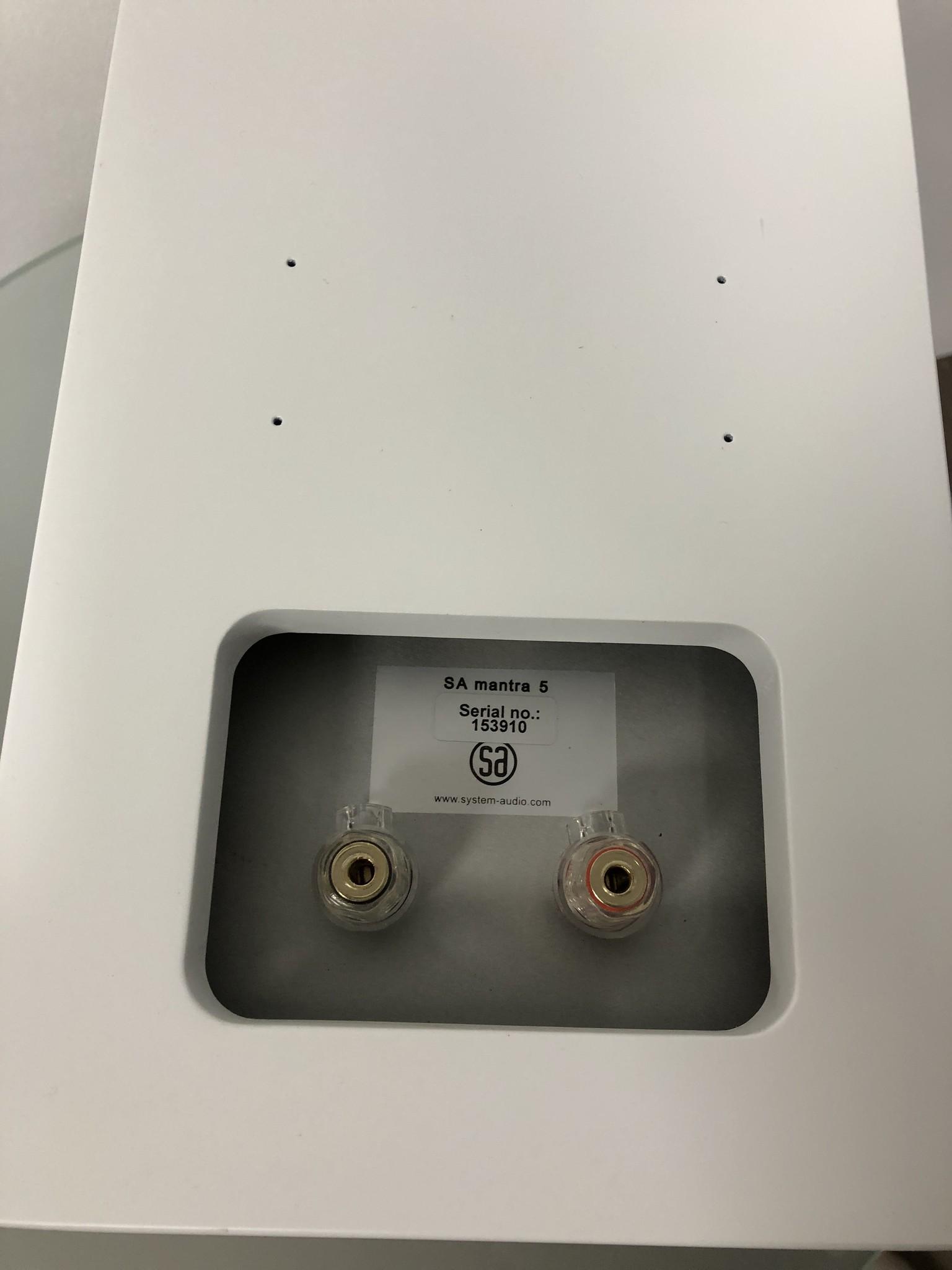 System Audio (SA) SA Mantra 5 weiß (Paar)