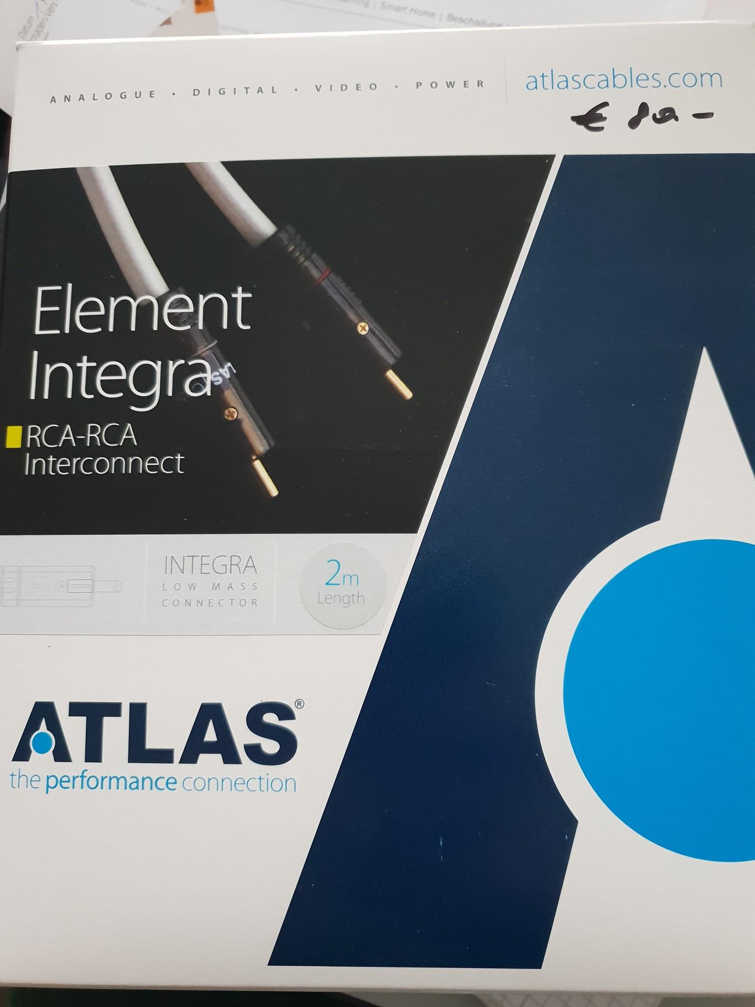 Atlas Atlas Element Integra RCA-RCA Interconnect 2m