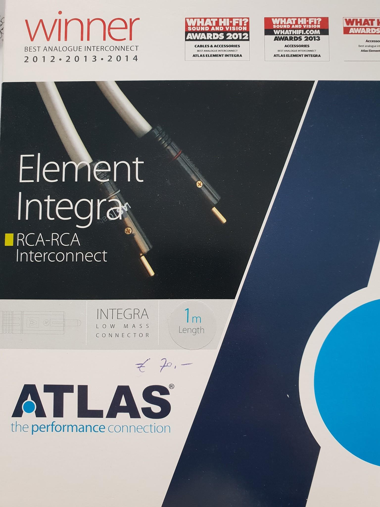 Atlas Atlas Element Integra RCA-RCA Interconnect 1m