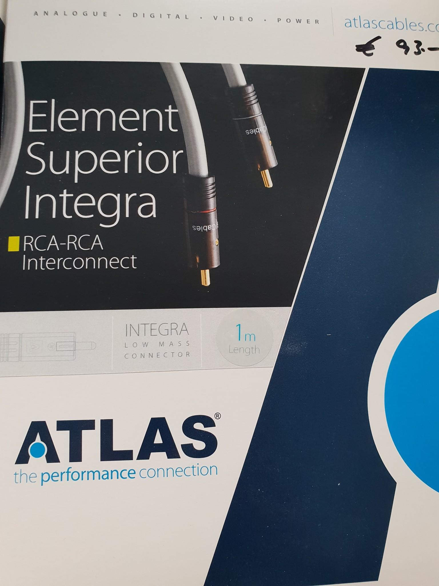 Atlas Atlas Element Superior Integra RCA-RCA Interconnect 1m