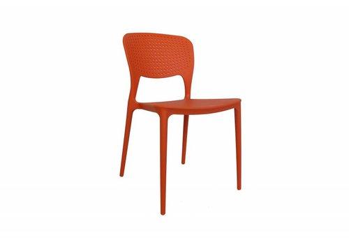 Tuinstoel modern oranje Nino