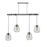 Industriële hanglamp Mauro 4-lichts