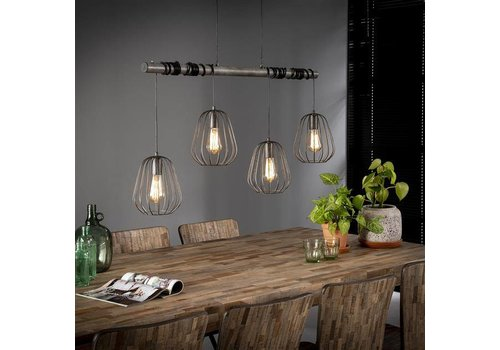 Industriële hanglamp Macon 4-lichts