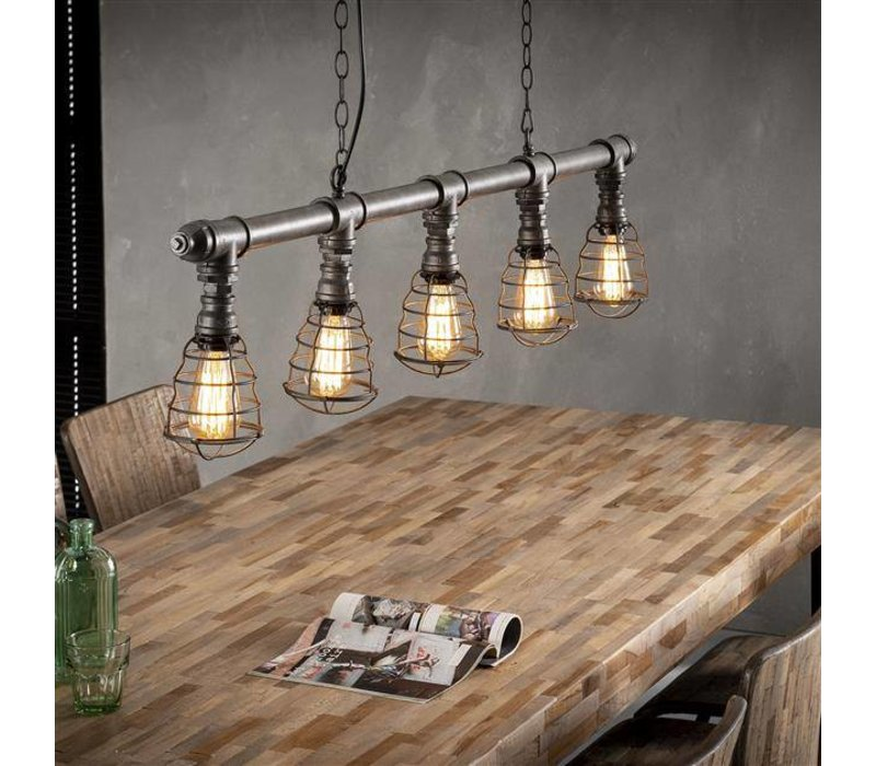 industriële hanglamp dayton 5-lichts - gratis thuisbezorgd