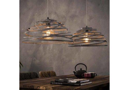 Industriële hanglamp Dubois 2-lichts staaldraad