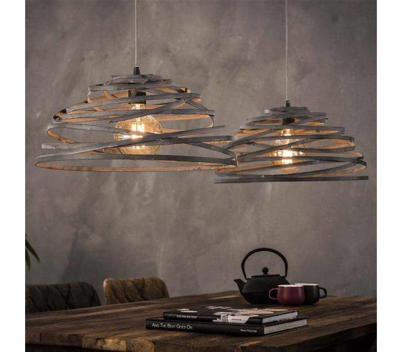 industriële hanglamp dubois 2-lichts staaldraad - gratis