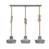 Industriële hanglamp Hazel 3-lichts betonlook verstelbaar touw