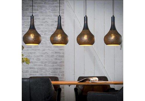 Industriële Hanglamp Toledo Zwart/Bruin