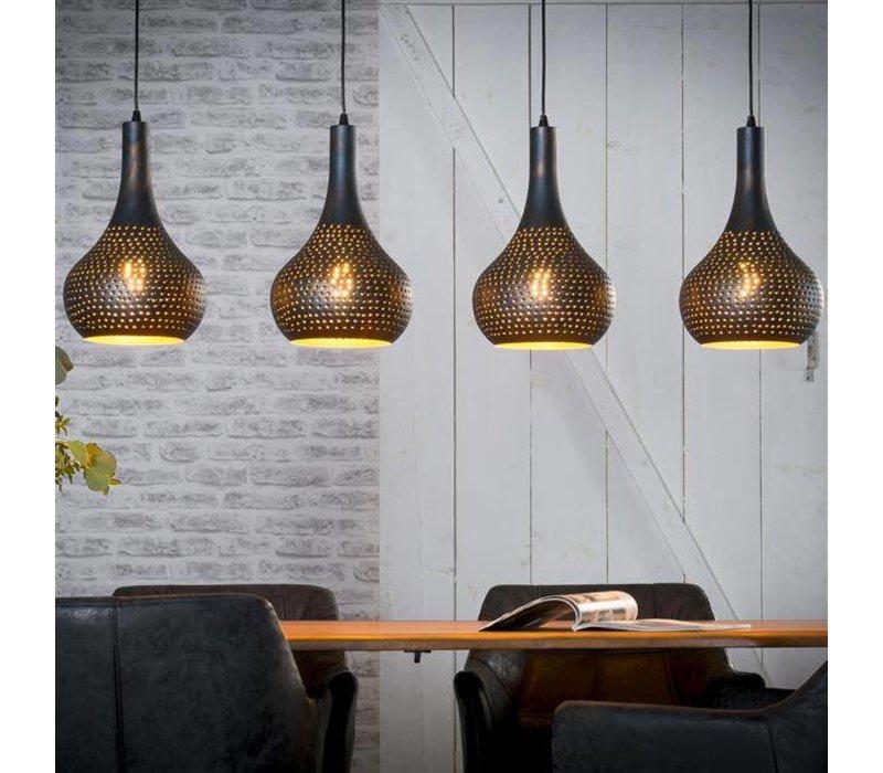 Bekend Hanglamp Toledo Zwart/Bruin - Gratis thuisbezorgd! - Dimehouse CP71