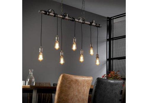 Industriële hanglamp Irvine 7-lichts