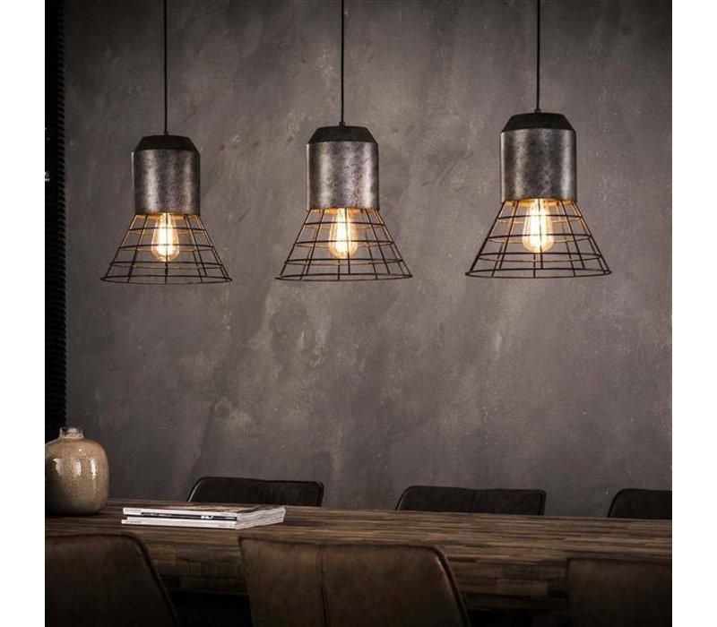 Hanglamp Nore 3-lichts oud zilver