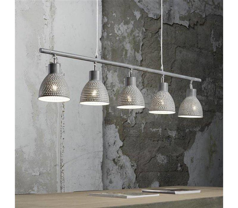 Hanglamp Hays 5-Lichts Iron Grijs