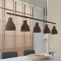 Hanglamp Hays 5-Lichts Iron Bruin
