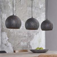 Hanglamp Wikita Bol Zwart/Bruin