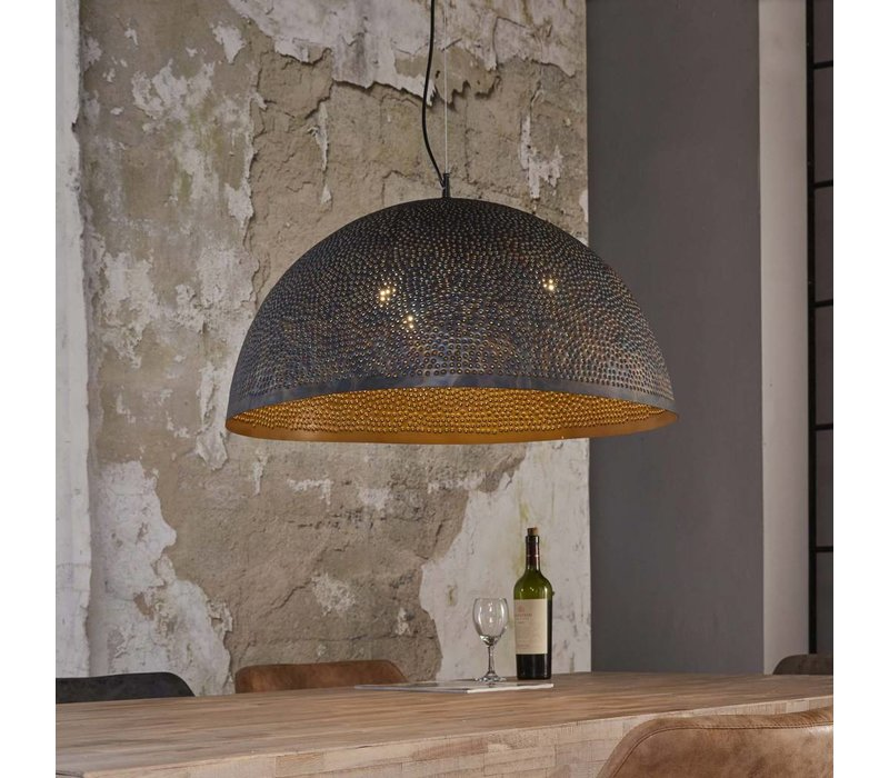 Hanglamp Harper Ø70 Zwart/Bruin
