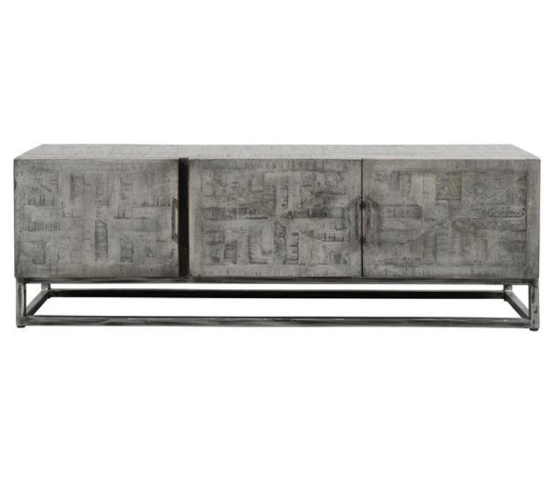 Massief vergrijsd Mango TV meubel Vasto