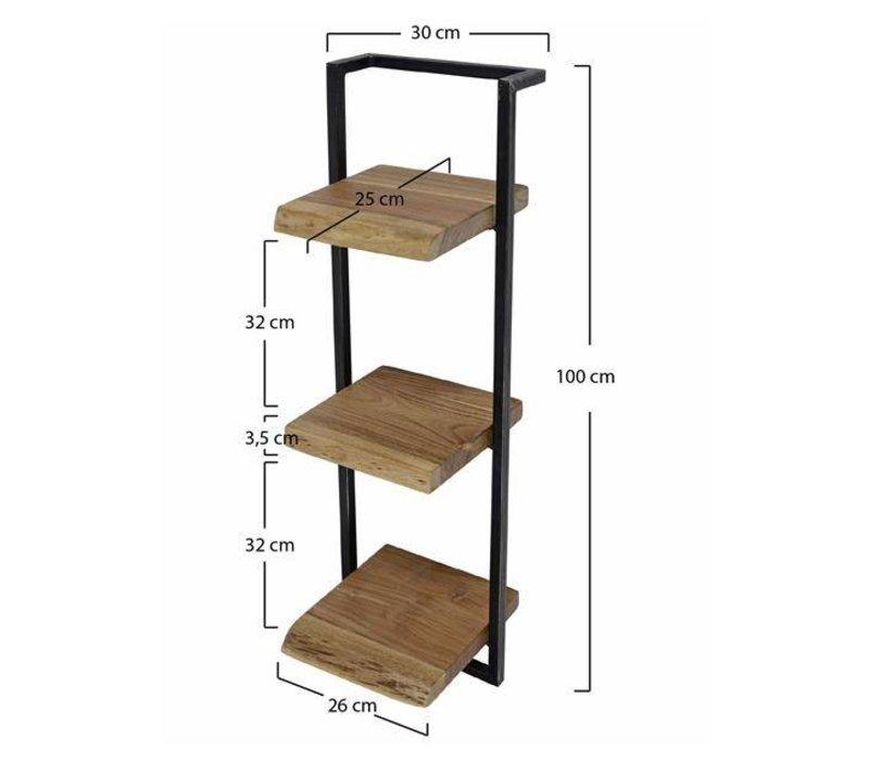 Wandplank Aberdeen 30x100 cm
